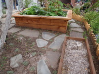 Raised Planting Bed with Seat