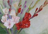 Glad Tidings Watercolor 14x20 SOLD