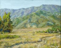 """""""The Bluffs Trail"""",  8"""" X 10"""",  oil, $500.00"""