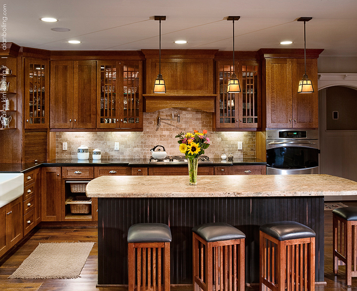 Incroyable Craftsman Kitchen With Island