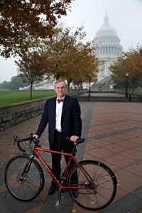 Congressman Talks Cycling in the Capital, and Races a Reporter