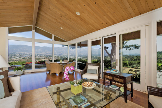 Living Room and Mountain Views