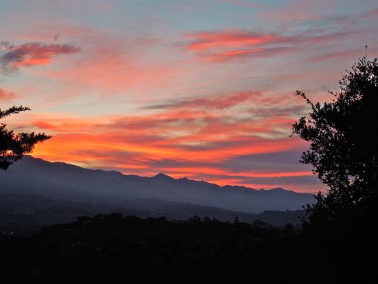 Sunset at 765 Via Airosa Santa Barbara, Calif