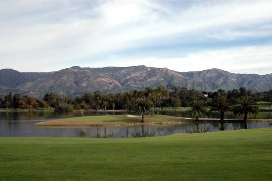 Hope Ranch Lake with Mountain Views