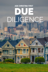 Today: Due Diligence