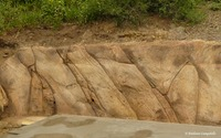 Faux Sandstone Retaining Wall 987