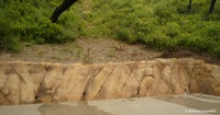 Faux sandstone retaining wall 986