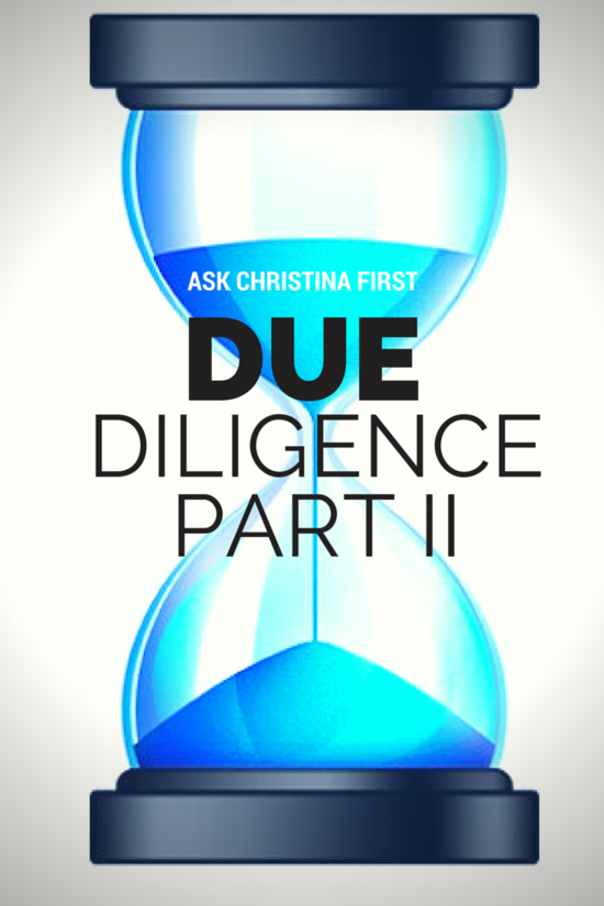 Due Diligence Part 2