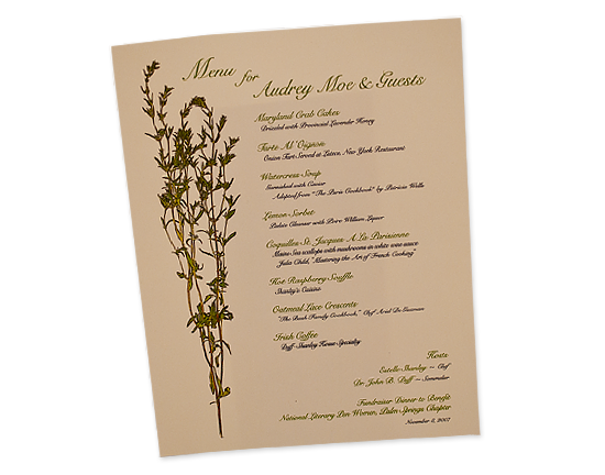 Shanley Dinner Menu