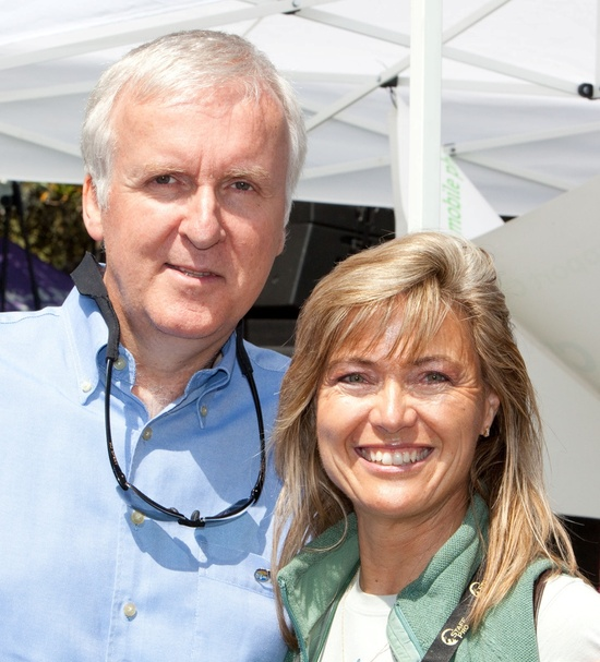 Jonatha King with Academy Award-winning Director James Cameron