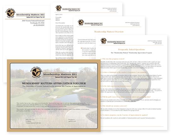 Victoria National Golf Club Mailer