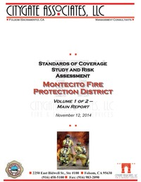 Standards of Cover and Risk Assessment Study Vol 1