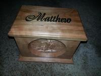 Baby Matthew's urn from Dave Hebert of Johnstown, NY