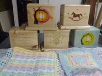 Over ten urns & Blankets arrived from Jerry and Patti Strain of Hernando, Florida