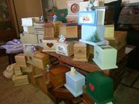 Urns arriving from all over the USA.