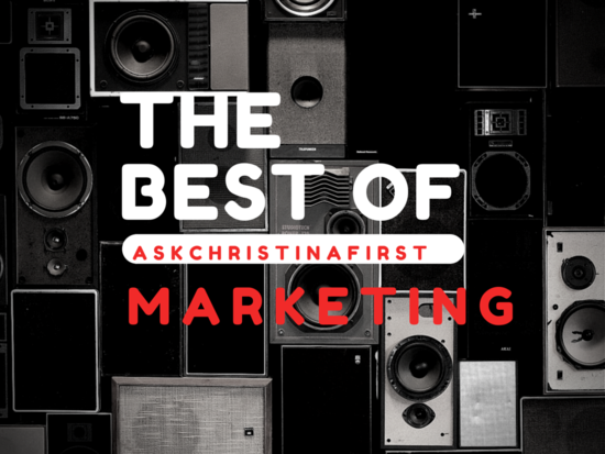 Thursday: The Best of Christina... Marketing