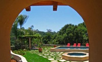 Guest house, pool and cabana, Hope Ranch, CA