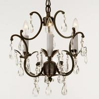 "Small Wrought Iron Chandelier A 18"" H x 12"" W"