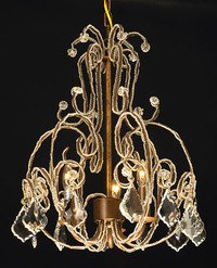 "Small Beaded Chandelier 15.5"" H x 19"" W"