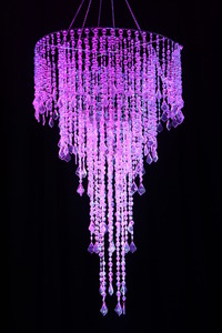 "Beaded Curtain Chandelier 44"" H x 24"" W"