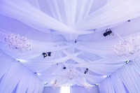 Custom Ceiling Treatment and Wall Drapes in a Tent