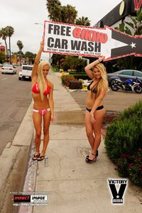 Bikini Car Wash & Fights 6-8-13-62