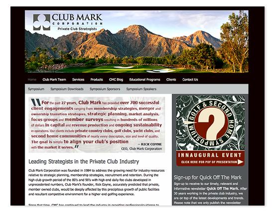 Club Mark Corporation Web Site
