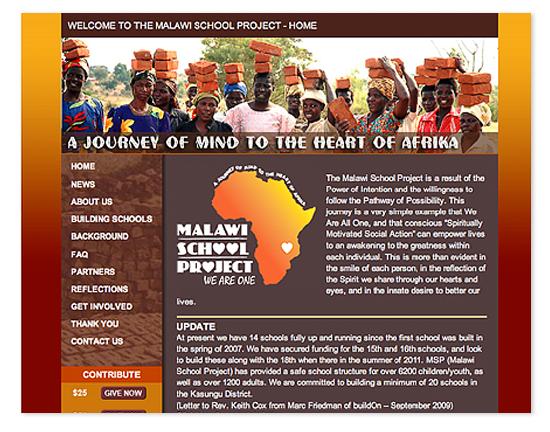 Malawi School Project Web Site