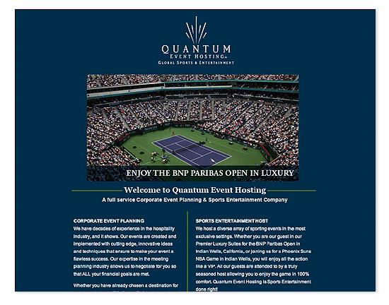 Quantum Event Hosting Web Site