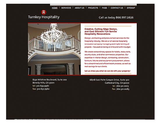 Turnkey Hospitality Web Site