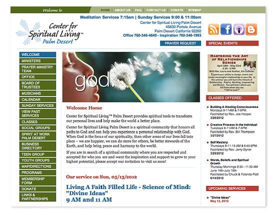Center for Spiritual Living Web Site