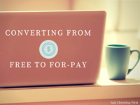Converting a Free Product to a For-Pay Model