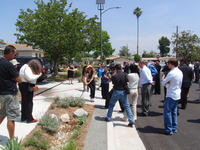 Green Streets Project: Elmer Ave - ribbon cutting