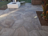 Flagstone on slab tight joints