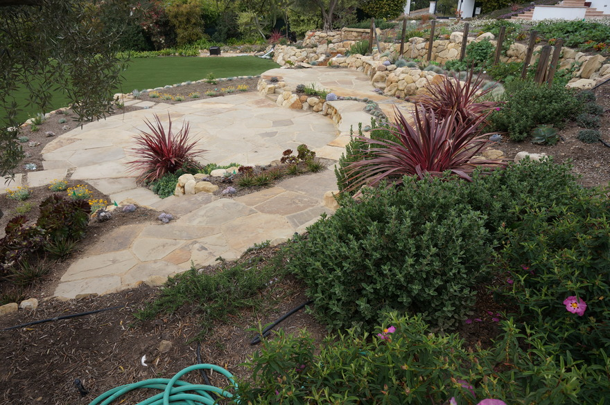 Garden flagstone patios and steps