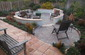 Paver mandalas mortared walls firepit