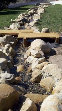 100ft stream slab tree bridge