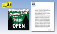 Created fake Tree Lot Sign and I wrote and created this fake letter of recommendation.