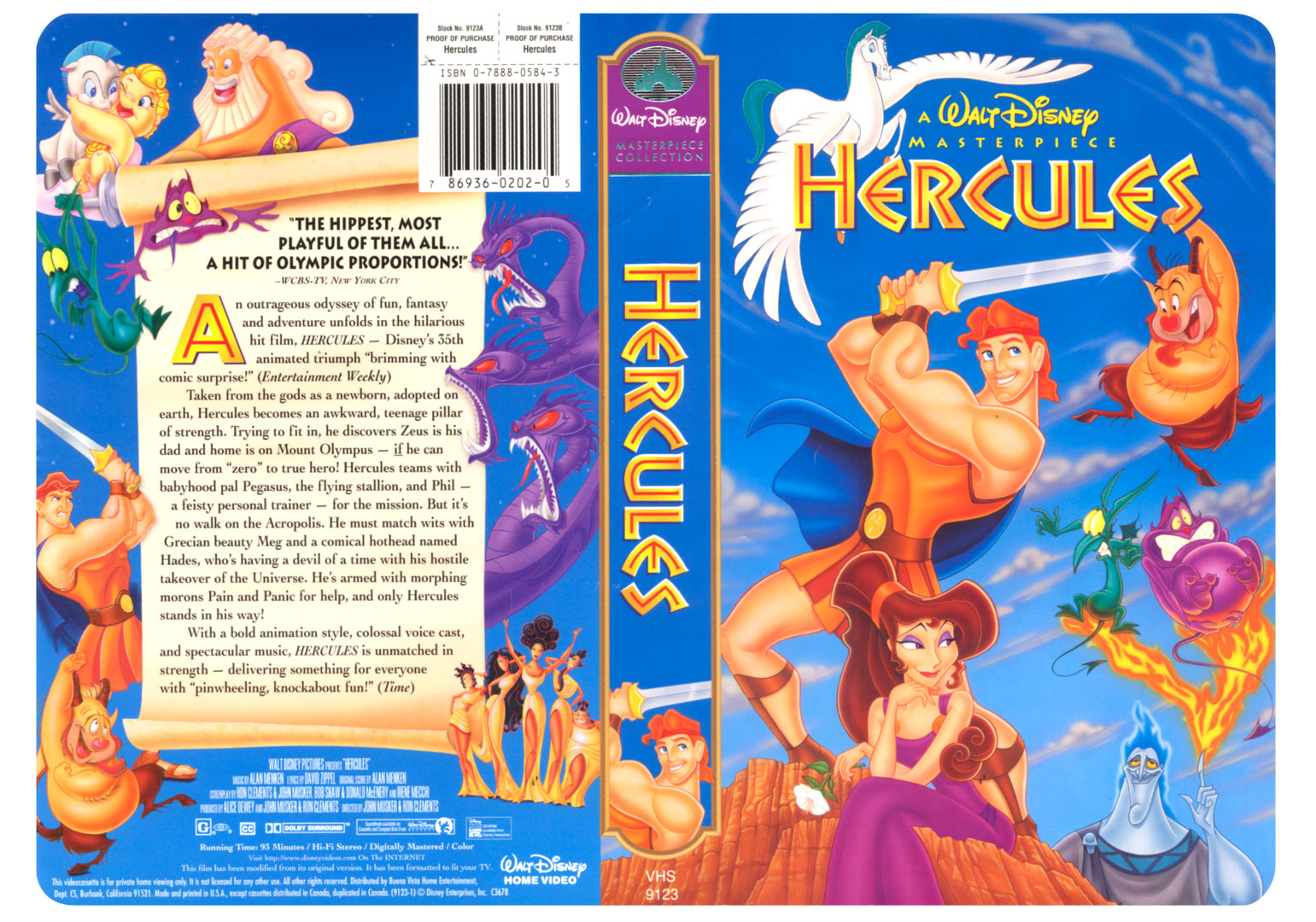 Walt Disney�s Hercules - 1 of an exploratory of 5 designs I created for Buena Vista Home Video. They produced 3 of the 5 comps and this was one of them.