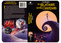 Tim Burton�s The Nightmare Before Christmas - Universal Home Video - The front cover was a repackage from the provided theatrical poster design. We designed the art for the back cover and home video package.