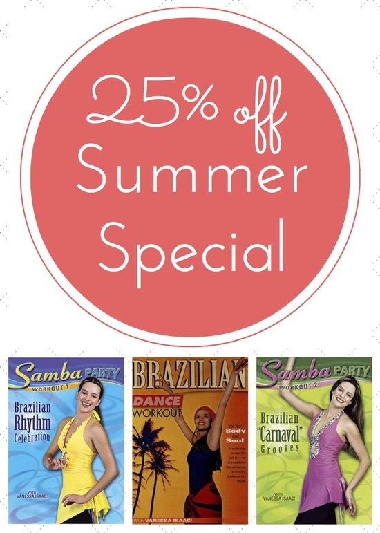 Brazilian Dance & Fitness Summer Special: $39.85 Value For Only $29.95