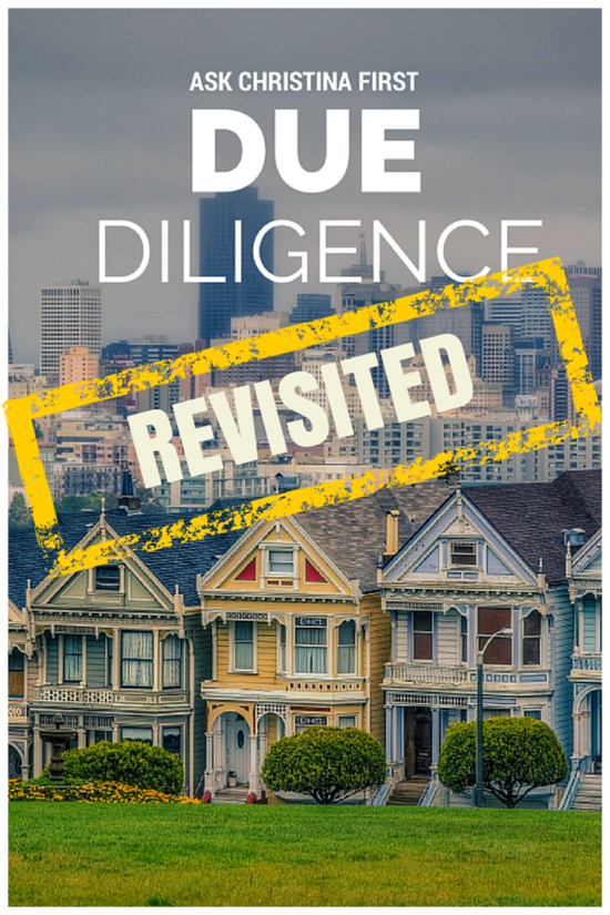 Thursday: Due Diligence Revisited