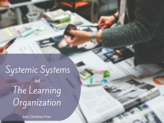 Today: Systemic Systems and The Learning Organization