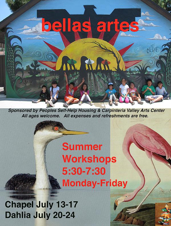 Bellas Artes Summer Workshops Begin July 13