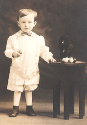 Roy Eagle as a young boy