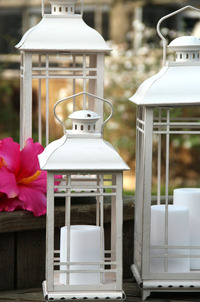 White Candle Lanterns (Small, Medium and Large)