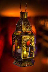 Medium Silver Moroccan Candle Lantern
