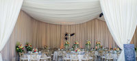 Custom Ceiling and Wall Drapes in a Tent