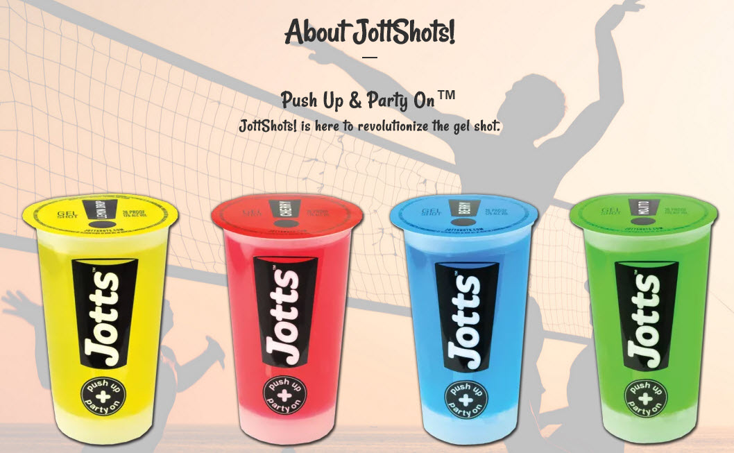 Jottshots - premade gel shots made in Santa Barbara, CA