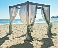 Padaro Structure with Linen Draping